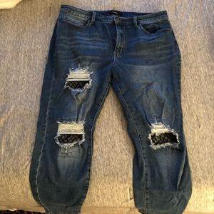 Forever 21 Fishnet Jeans